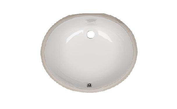 Bath Vanity Oval Porcelain Sink ESCO-1310 Image