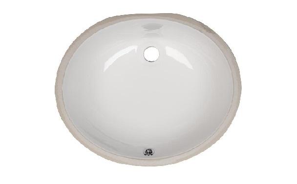 Bath Vanity Oval Porcelain Sink ESCO-1512 Image
