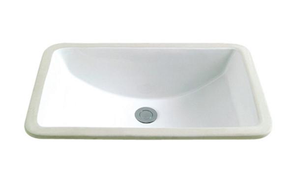 Bath Vanity Rectangular Porcelain Sink ESCR-1812 Image