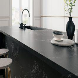 Caesarstone Empira Black Quartz Countertops