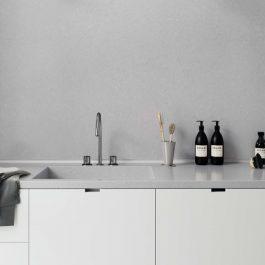 Caesarstone Flannel Grey Quartz Countertops